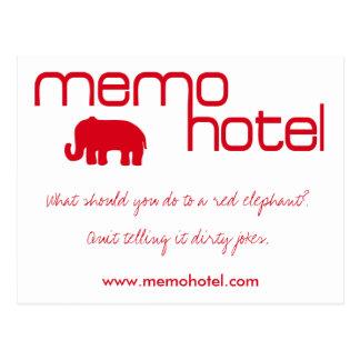 Memohotel Humorous Postcard