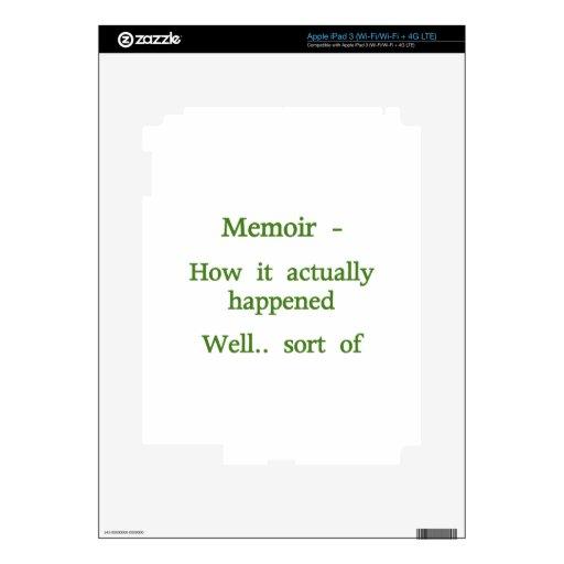 Memoir How it happened - Green iPad 3 Skin