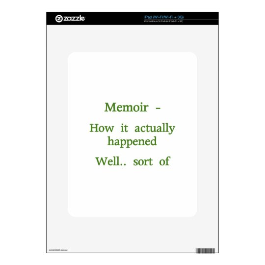 Memoir How it happened - Green Skins For iPad
