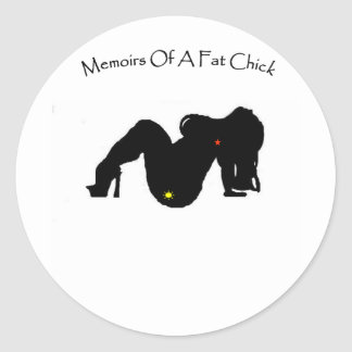 Memoirs Of A Fat Chick Classic Round Sticker