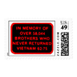 Memor of Brothers Who Never Returned - Vietnam Stamps