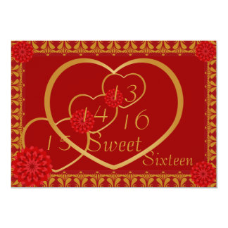 Memorable Blooming Sweethearts _Customize 5x7 Paper Invitation Card