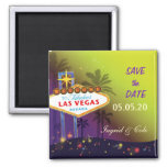 Memorable Las Vegas Wedding Night Save the Date Magnets