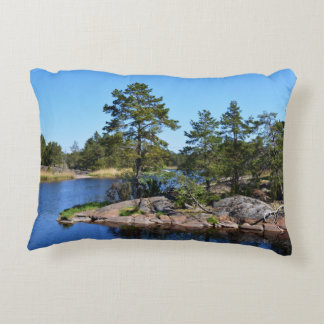 memorable moments Sweden scandinavia fjord Accent Pillow