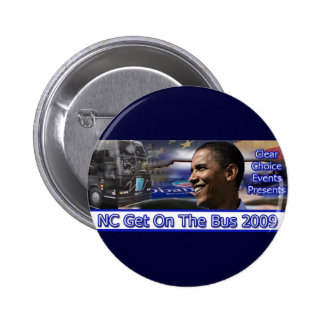 Memorable NC Get on the Bus Button Blue