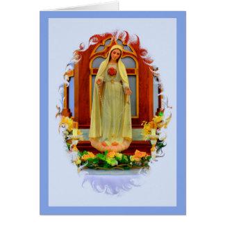 Memorare Prayer Card - Fatima Image