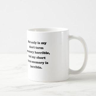 Memoria a corto plazo tazas de café