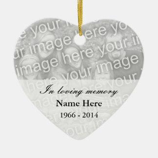 Memoria cariñosa conmemorativa del ornamento el | adorno navideño de cerámica en forma de corazón