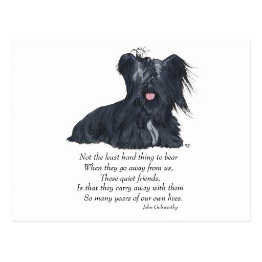 Memoria de Skye Terrier Postales