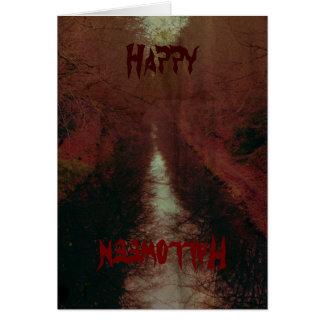 Memoria de una tarjeta de Halloween del canal