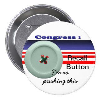 Memoria del congreso pin redondo de 3 pulgadas