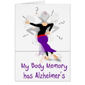 memoria del cuerpo tarjeta