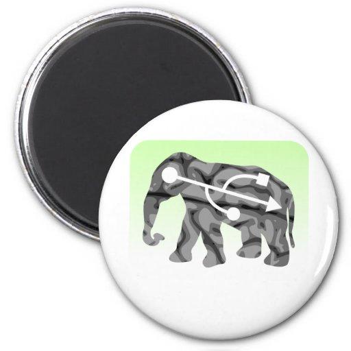 Memoria del elefante imán de nevera