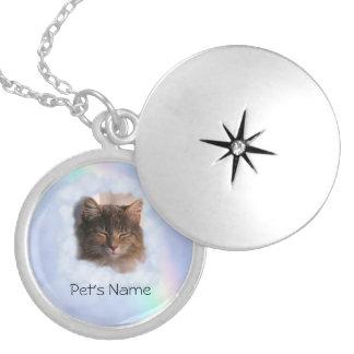 Memoria del mascota (foto y nombre del parte collar con colgante