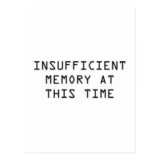Memoria escasa en este tiempo postal