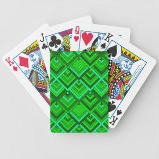 memoria formada de los años 60, verde baraja de cartas