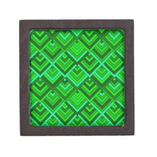 memoria formada de los años 60, verde caja de recuerdo de calidad