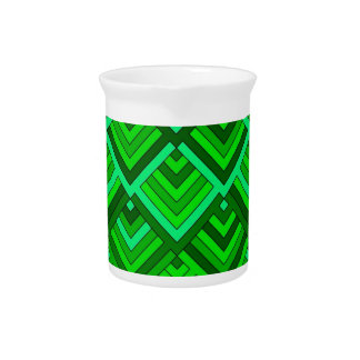 memoria formada de los años 60, verde jarra de beber