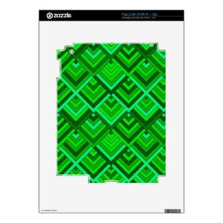 memoria formada de los años 60, verde iPad 2 skins