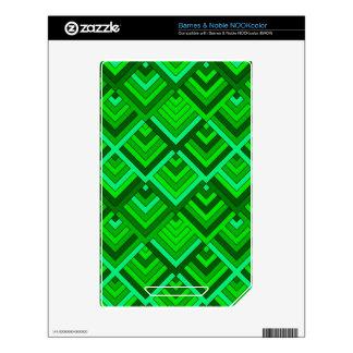 memoria formada de los años 60, verde calcomanías para NOOK color