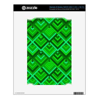 memoria formada de los años 60, verde NOOK calcomanía