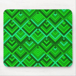memoria formada de los años 60, verde alfombrilla de raton