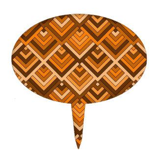 memoria formada del naranja marrón de los años 60 decoración de tarta