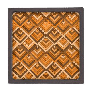 memoria formada del naranja marrón de los años 60 caja de regalo de calidad