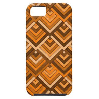 memoria formada del naranja marrón de los años 60 iPhone 5 Case-Mate protector