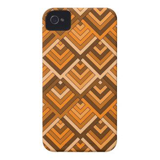 memoria formada del naranja marrón de los años 60 iPhone 4 Case-Mate protectores
