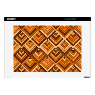 memoria formada del naranja marrón de los años 60 38,1cm portátil calcomanías
