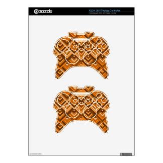 memoria formada del naranja marrón de los años 60 mando xbox 360 skin