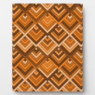 memoria formada del naranja marrón de los años 60 placa de madera