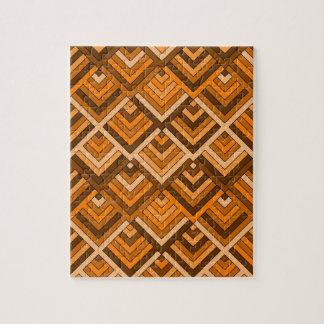 memoria formada del naranja marrón de los años 60 puzzle