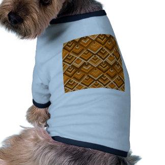 memoria formada del naranja marrón de los años 60 camisas de perritos