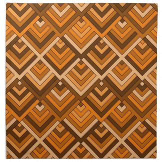 memoria formada del naranja marrón de los años 60 servilleta de papel