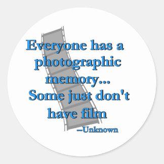 Memoria fotográfica pegatinas