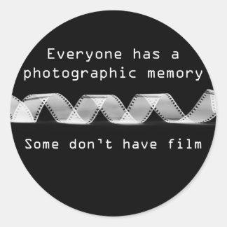 Memoria fotográfica - pegatina