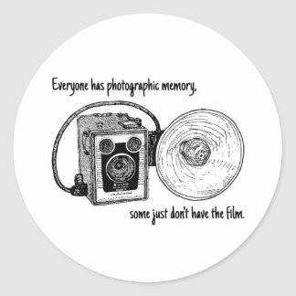 Memoria fotográfica etiqueta redonda
