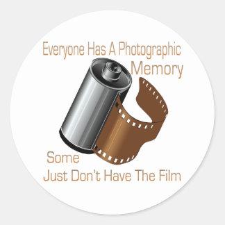 Memoria fotográfica pegatina