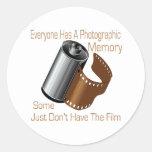 Memoria fotográfica pegatinas redondas