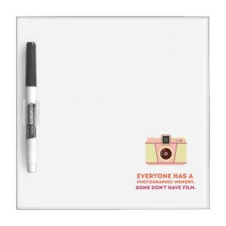 Memoria fotográfica tablero blanco