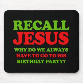 Memoria Jesús -- Humor del día de fiesta - .png Alfombrillas De Raton