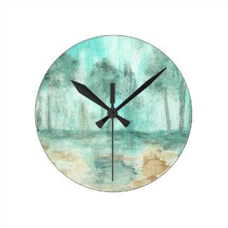 Memoria, pintura de los árboles del paisaje del ar reloj