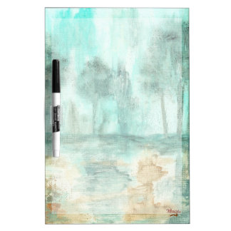 Memoria, pintura de los árboles del paisaje del pizarra blanca
