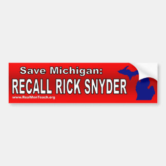 Memoria Rick Snyder Pegatina De Parachoque