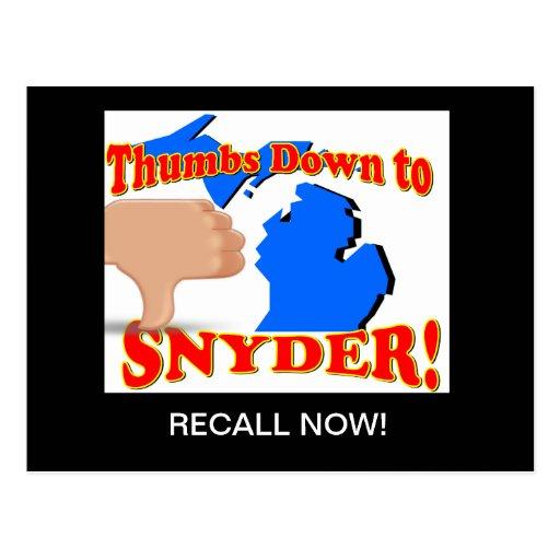 Memoria Rick Snyder Postales