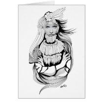 artsprojekt, origin, history, aboriginal, girl, woman, female, earth, women, sacred, illustration, indigenous, memory, inspiring, ancestral, cacique, Card with custom graphic design