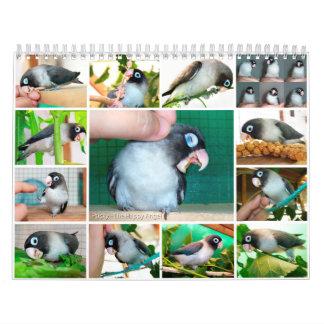 Memoria sifilítica del dulce del lovebird calendario