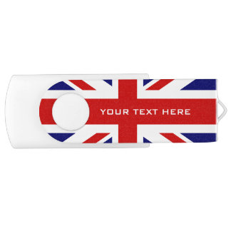Memoria USB británica del eslabón giratorio de la Memoria USB 2.0 Giratoria